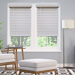 Cordless 2 inch Faux Wood Blinds