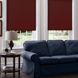 Designer Light Filtering Fabric Roller Shades - Red Velvet