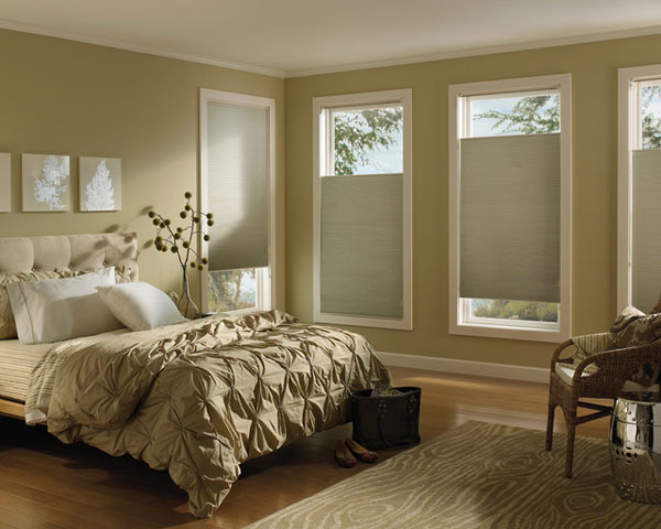 Premium 3 4 single cell blackout cellular shades awardblinds for Cost of blinds for 3 bedroom house