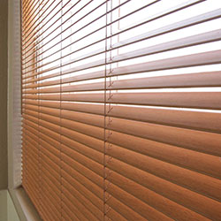 Premium 1 inch Faux Wood Blinds - Real Grain Oak