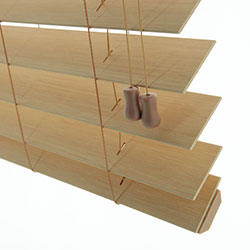 Premium 2 1/2 inch Faux Wood Blinds - Trapezoid Bottomrail