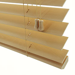 Premium 2 inch Wood Blinds - Trapezoid Bottomrail