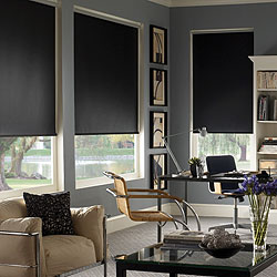 Signature Blackout Roller Shades - Twilight Raven