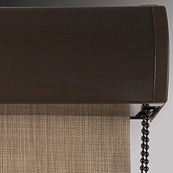 Signature Roller Shades - Curved Fascia (Bronze)