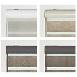 Zebra Room Darkening Dual Sheer Shades - Standard Headrail Colors