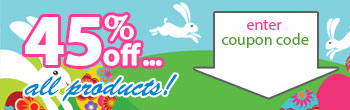 45% off Easter Sale!