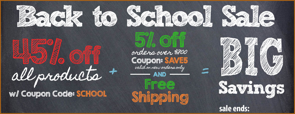 45% off Back to School Sale!