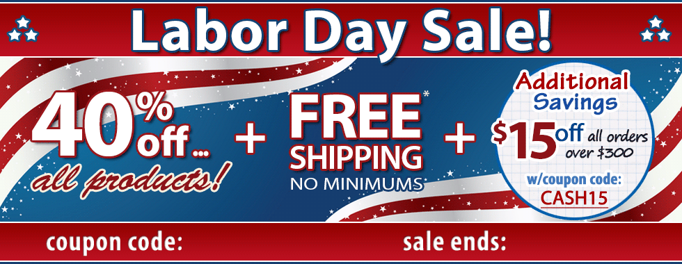 40% off Labor Day Sale!