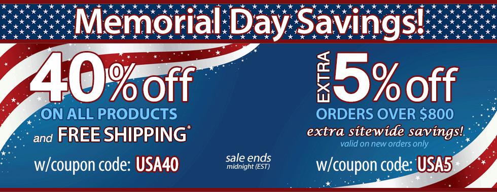 40% off Memorial Day Sale!