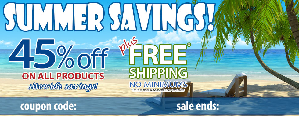 45% off Summer Savings Sale