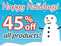 45% off Happy Holidays Sale