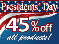 45% off Presidents Day Sale!