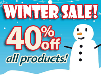 Winter Sale! 40% off All Products!